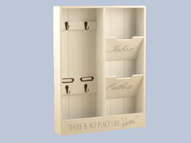 005761 Portachiavi + portaposta legno bianco 156-13